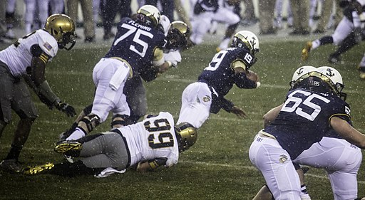 Army-Navy football game action