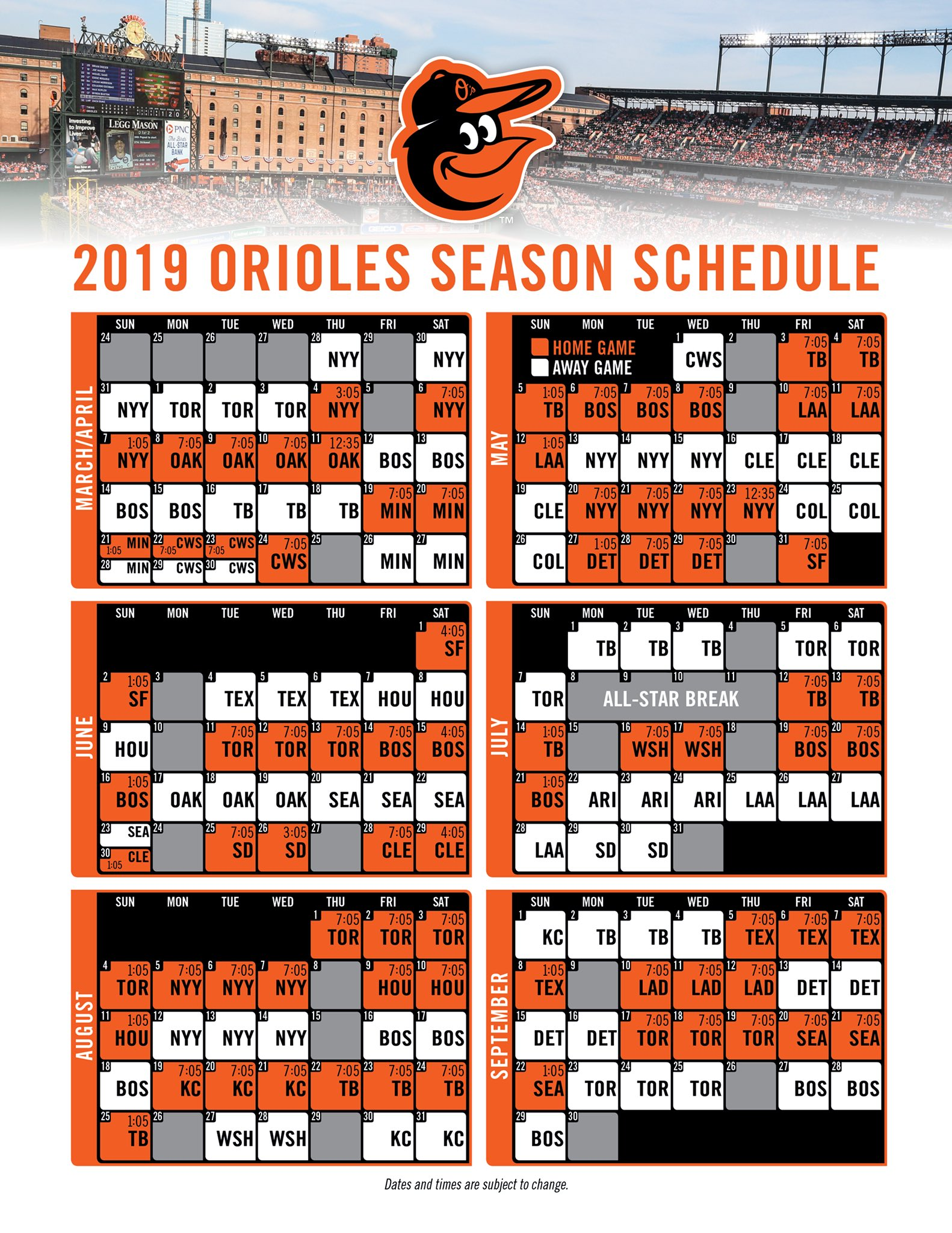 Current image within baltimore orioles printable schedule