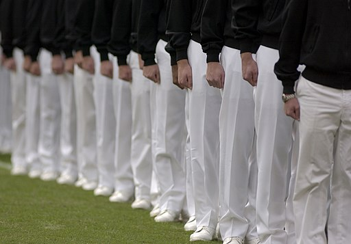 Navy Midshipmen in formation