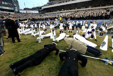 Navy celebrate a TD