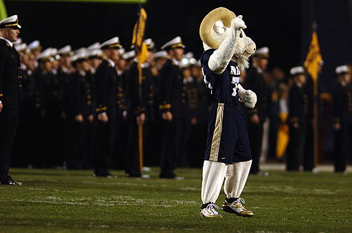 Navy Midshipmen and Bill the Goat