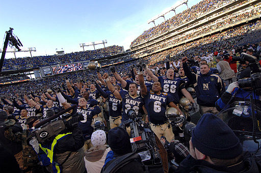 Navy Midshipmen celebration