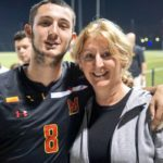 Tonight's Hero with his Proud Mama who traveled 4000 miles to come visit her son's moment