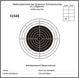 Air rifle target