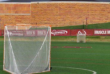 An empty lacrosse field