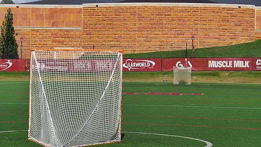 An empty lacrosse field