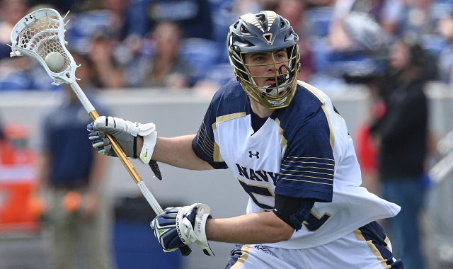 Navy Lacrosse player
