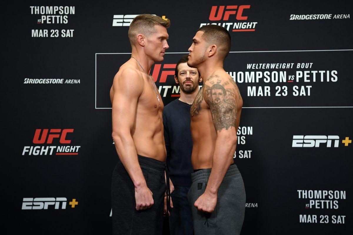 Ufc Fight Night 148 Thompson Vs Pettis Marylandsportsblog Com