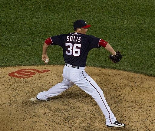 Sammy Solis pitching.