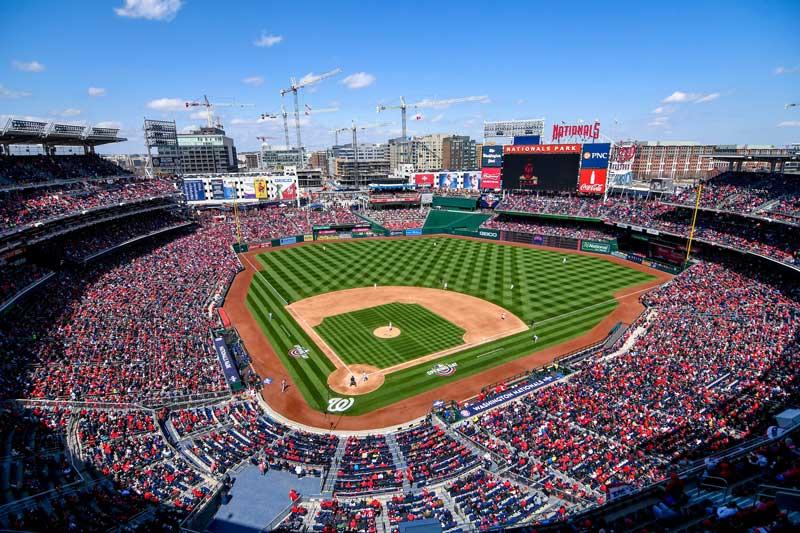 Washington Nationals stadium in Washington, DC.