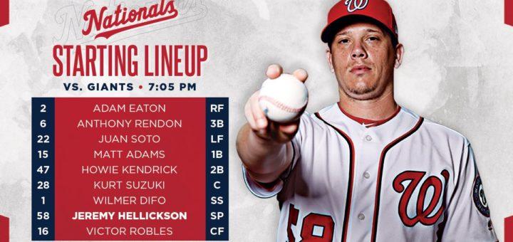 Nationals lineup.