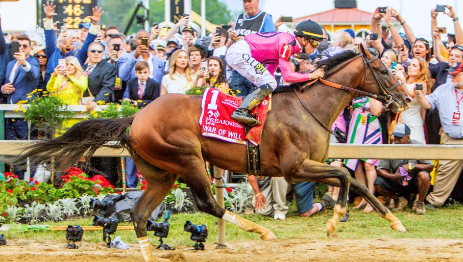War of Will rose victorious Saturday in the 144th running of the Preakness Stakes.